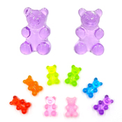 Colorful Gummy Bear Earrings Metal Free For Sensitive Ears