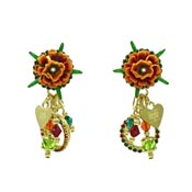 Marigold Marmalade Flower Earrings By Lunch At The Ritz LATR