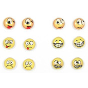Emoticon Earrings Six Moods
