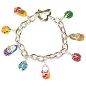 Lucky Baby Shoe Toggle Bracelet