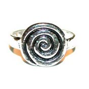 Primitive Spiral Toe Ring