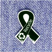 Green Recycle Awareness Ribbon Pin