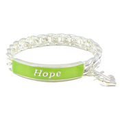 Lime Green Hope Is My Anchor Bracelet