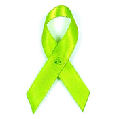Lime Green Satin Awareness Ribbon Pins