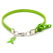 Lime Ribbon Zipper Bracelet