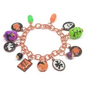 Copper Halloween Charm Bracelet