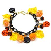 Halloween Celebration Charm Bracelet In Black By Iris