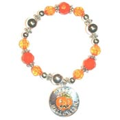Happy Halloween Medallion Bracelet