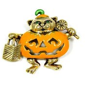 Trick Or Treat Kitty Pin