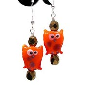 Fall Owl Earrings
