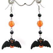 Rubber Bat Earrings