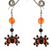 Rubber Spider Earrings