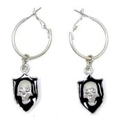 Skull Crest Earrings