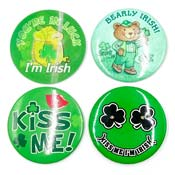 Vintage Three Inch Irish Button Pins Pick Your Style