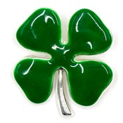 Enameled Four Leaf Clover Pin Or Pendant By Best