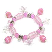 Pink Easter Egg Hunt In The Garden Bracelet
