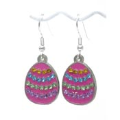Rhinestone Easter Egg Earrings Pick Your Color