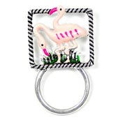 Flamingo Glasses or ID Badge Holder Pin