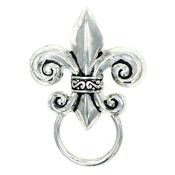 Fleur De Lis Glasses or ID Badge Pin