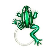 Green Frog Glasses or ID Badge Holder Pin