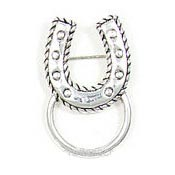 Horseshoe Eyeglass Or ID Badge Pin