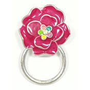 Magnetic Pink Flower Glasses or ID Badge Holder