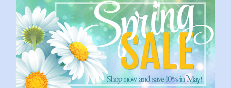 Save 10% on your order in May!