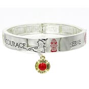 Support Our Fire Fighters Stretch Cuff Bracelet