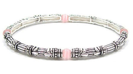 Stackable Pink Cats Eye Bracelet