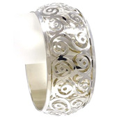 Double Layer Spiral Cutout Bangle