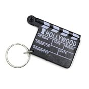 Hollywood Directors Clapper Clapboard Keychain - Clearance