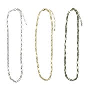 18 Inch 5 MM Rolo Chain Necklace Pick Your Finish Adjustable