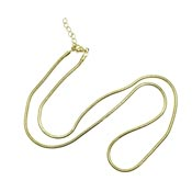 Gold Plated 24 Inch 2.5 MM Snake Chain Necklace Adjustable