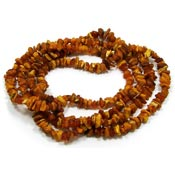 Incredible 64 Inch Raw Amber Bead Necklace