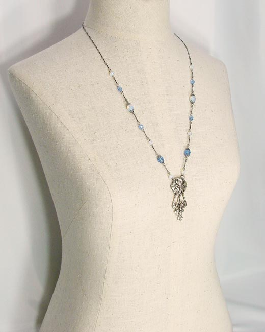 Art Nouveau Inspired Necklace And Earring Set In Two Colors