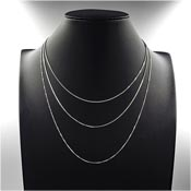 Sterling Silver Box Chain Necklace Pick Your Length