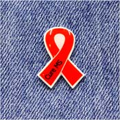 Handcrafted Orange Cure MS Awareness Ribbon Pin