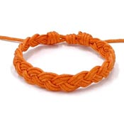 Orange Awareness Braided Friendship Bracelet