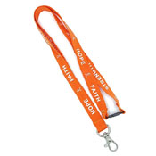 Orange Hope Faith Courage Strength Awareness Lanyard