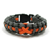 Orange Ribbon Paracord Bracelet
