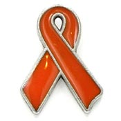 Priced Right Orange Ribbon Pin
