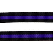 Thin Blue Line Ribbon 3/8 Inch Wide By The Yard