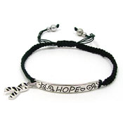 Zebra Adjustable Awareness Ribbon Bracelet