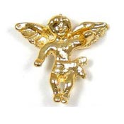 Gold Awareness Guardian Angel Pin
