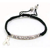 Adjustable Awareness Ribbon Bracelet Pick Your Color
