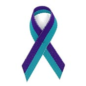 Suicide Prevention Grosgrain Awareness Ribbon Pin