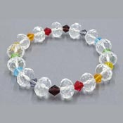 Rainbow Crystal Beaded Bracelet