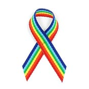 Rainbow Grosgrain Awareness Ribbon Pin