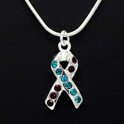 Suicide Prevention Awareness Ribbon Necklace