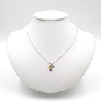 Custom Sterling Silver Ribbon With Love Necklace